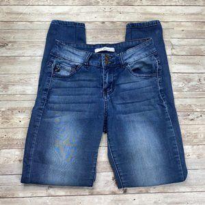 KanCan Womens Mid Rise Skinny Blue Denim Jeans 25